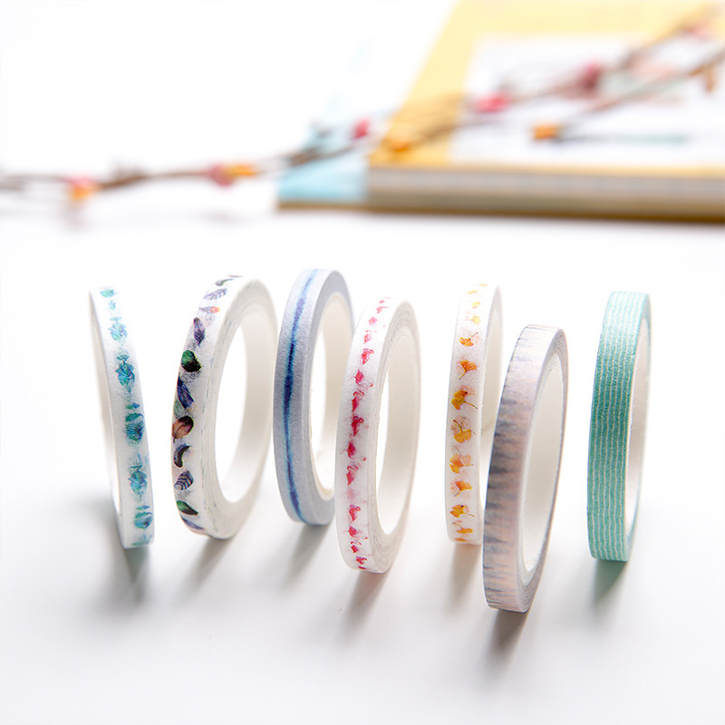 Cute Kawaii Flowers Feather Cat Animals Decorative Tape Adhesive Masking Washi Tape Paper Stickers For Scrapbooking