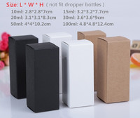 350pcs/lot 10ml/28*28*70mm White Black Kraft Paper Box Essence Oil bottle Cosmetics Party Gift box valve tubes