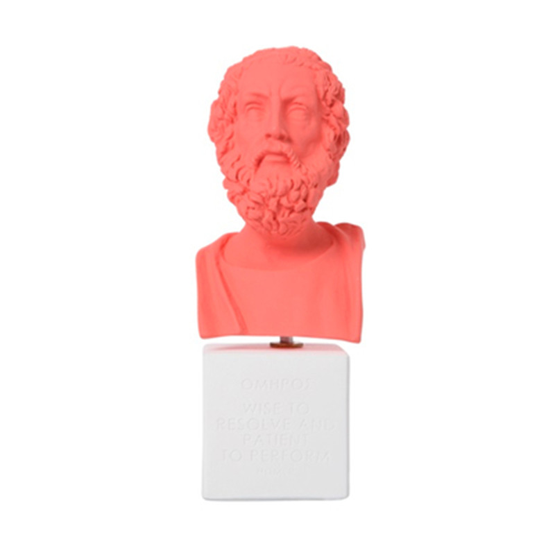 Greece Blind Poet Homer Bust Head Portraits Statue Northern Europe Resin Craftwork Home Furnishing Articles L2410