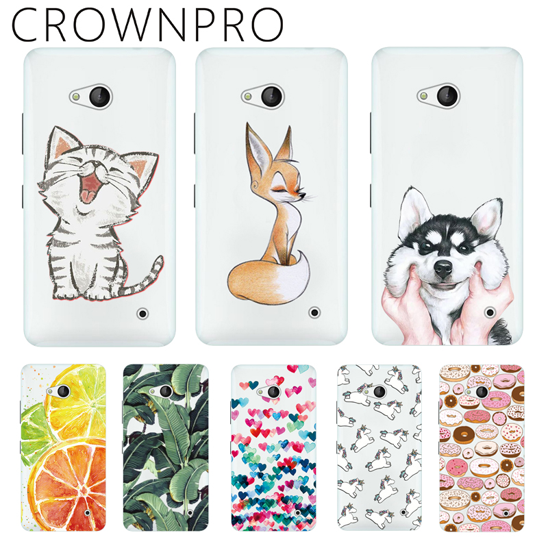 CROWNPRO Soft Silicone Coloured Drawing Case For <font><b>Nokia</b></font> Microsoft Lumia 640 <font><b>Cover</b></font> Back For <font><b>Nokia</b></font> 640 Phone Cases