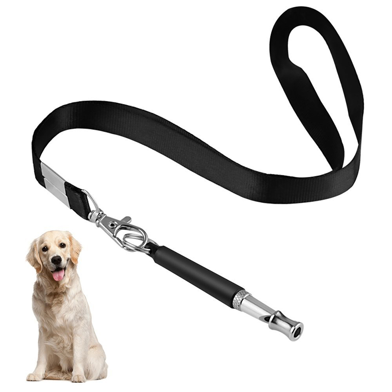 Dog Whistle for Training Dog ultrasonic Patrol Sound Repellent Repeller mascotas perro Adjustable Pitch with FREE Lanyard Strap(China)