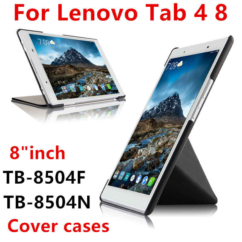"Case For Lenovo Tab4 TAB 4 8 TB-8504X TB-8504F N 8"" Tablet Cover Cases Protective cover PU Leather tab4 tb 8504 /n 8 inch Covers"
