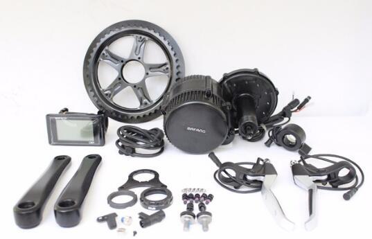 EU FREE TAX Ebike 36/48V 500W Bafang BBS02 With C961 TFT850C Display Mid Drive Motor Kit BB 68mm Conversion Kits 46T Chain Wheel