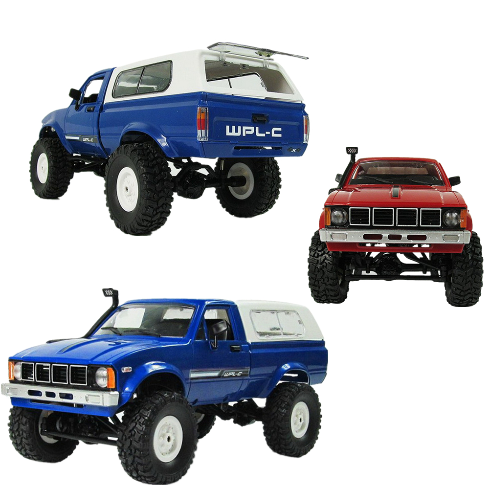 WPL C-24 4WD RC CAR DIY 1:16 Remote Control Crawler Toy Car Assemble Vehicle Toy Racer Children Kid Truck kit 2.4G OFF-Road RC remote control 1 32 detachable rc trailer truck toy with light and sounds car