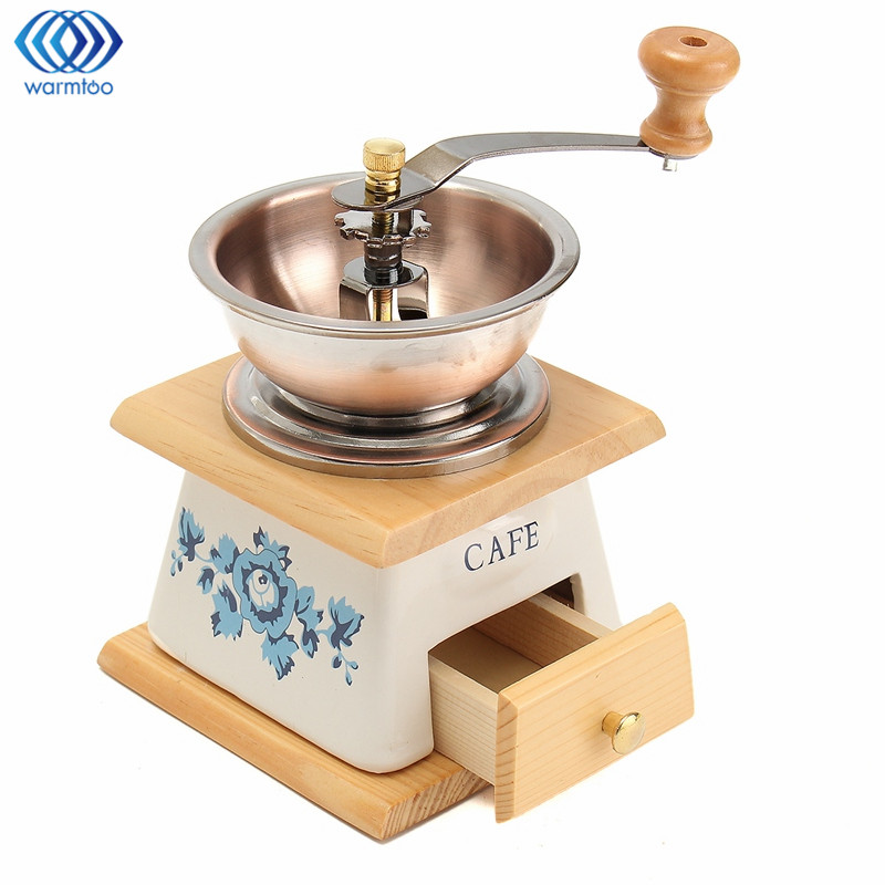 Manual Coffee Beans Grinder Spice Mill With High-quality Movement Coffee Maker Classical Classical Wooden Hand Home high quality hand coffee grinder manual coffee bean pepper grinder ceramic burr nut mill home office coffee maker
