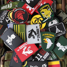 Wholesale! 50~100 Pieces Military PVC Patches Velcro Rubber Armband 3D Tactical Badge Patches For Backpack Hat Clothes Jacket...