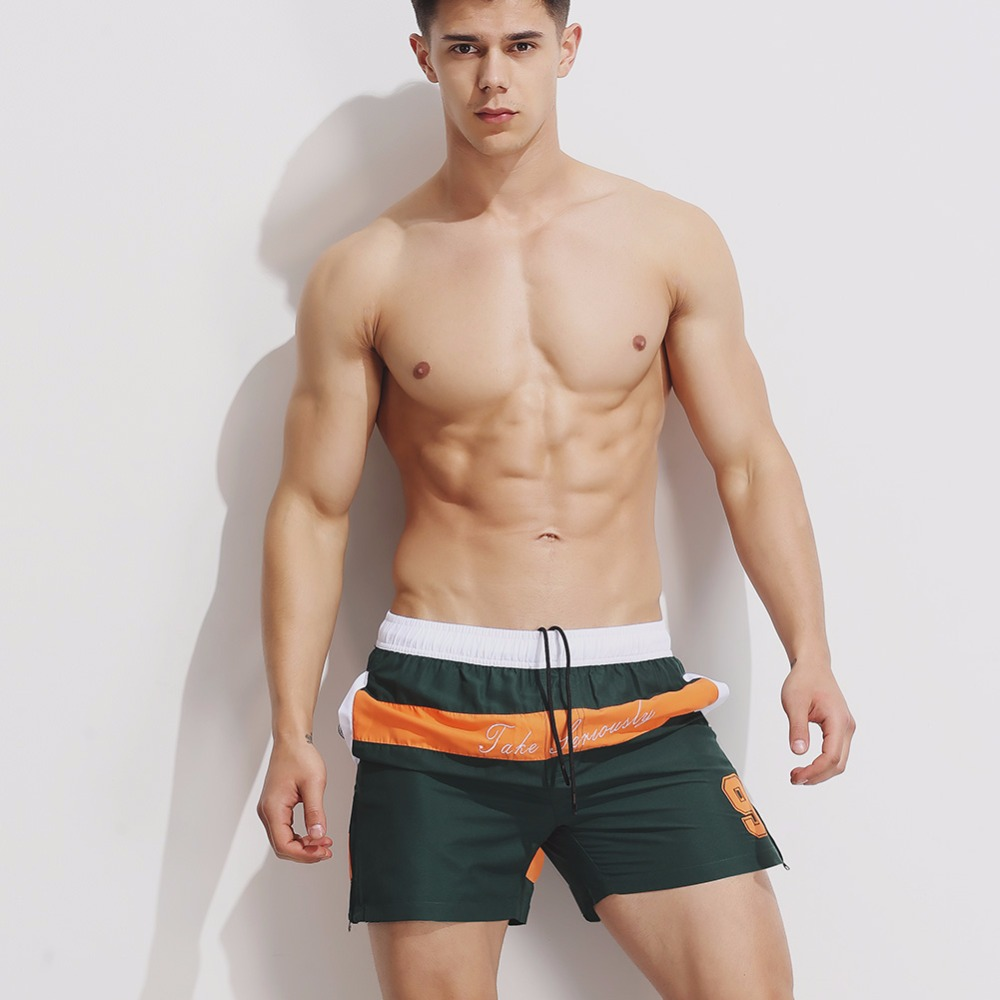 Topdudes.com - Athletic Men's Patchwork Beach Short Pants Sexy Quick Dry Board Shorts