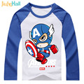 Jiuhehall Super Hero T-Shirts Top Quality Pure Cotton Baby Boys Girls Clothes Raglan Long Sleeve Kids Top Tees DCM142