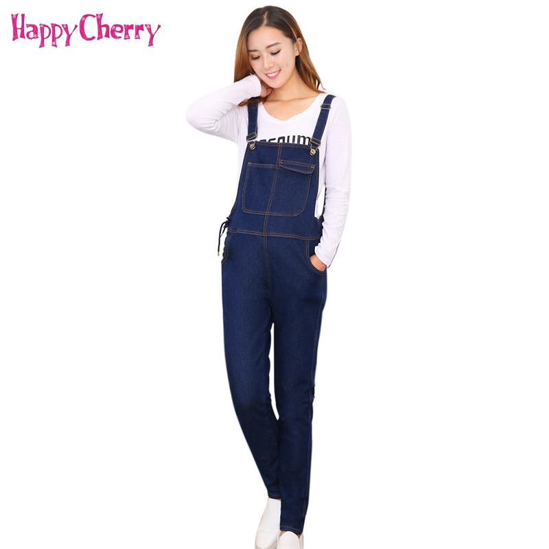 2018 Pregnant Women Jeans Overalls Bib Pants For Maternity Jumpsuit Pregnancy Clothing Pregnant Women Nursing Denim Trousers 4XL