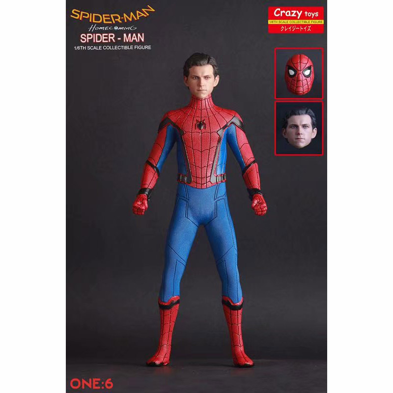 Anime 1/6th skalę szalone zabawki Spider Man Homecoming dwie głowy Ver. Figurka Iron Man MK47 Tony PVC rysunek zabawki Brinquedos w Figurki i postaci od Zabawki i hobby na  Grupa 1