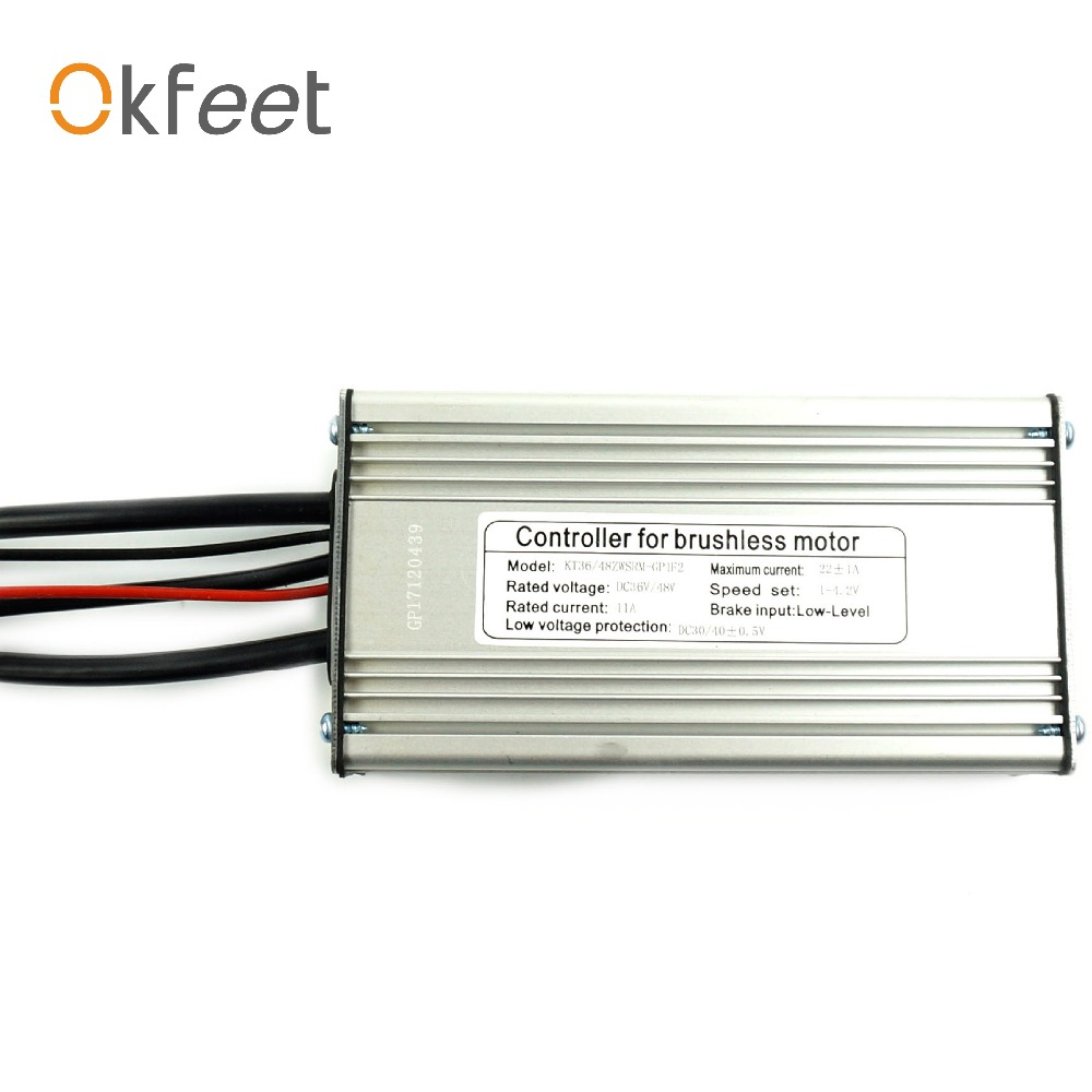 36V/48V22A Electric bicycle standard sinewave controller watertightness cable KT Series 500W motor conversion kit free shipping sinewave controller