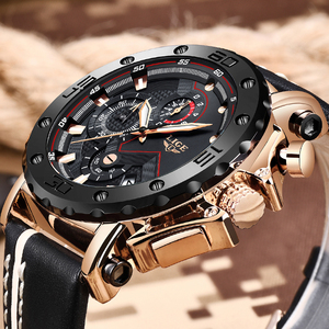 Image 2 - Relogio Masculino 2020 New LIGE Sport Chronograph Mens Watches Top Brand Casual Leather Waterproof Date Quartz Watch Man Clock