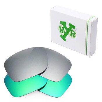 2 pares mryok anti-Scratch polarizado Objetivos para Oakley Holbrook Gafas  de sol Titanium Silver   Emerald Green 9d5d85f65f