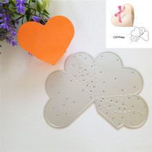 Heart Metal Cutting Dies for DIY Gift Box Scrapbook Embossing Wedding and Love Paper Craft Stamps New