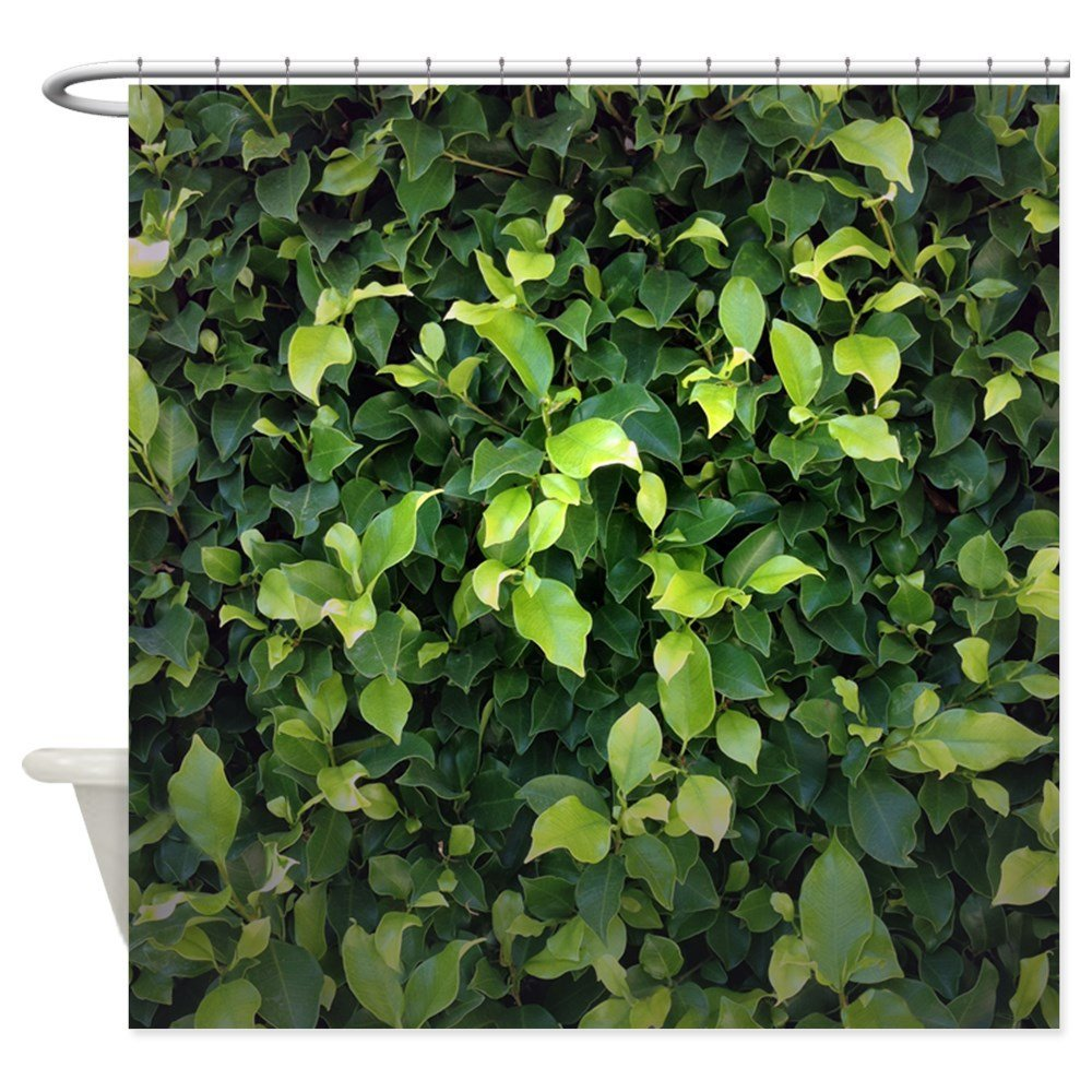 Green Ivy Shower Curtain - Decorative Fabric Shower Curtain (69x70)