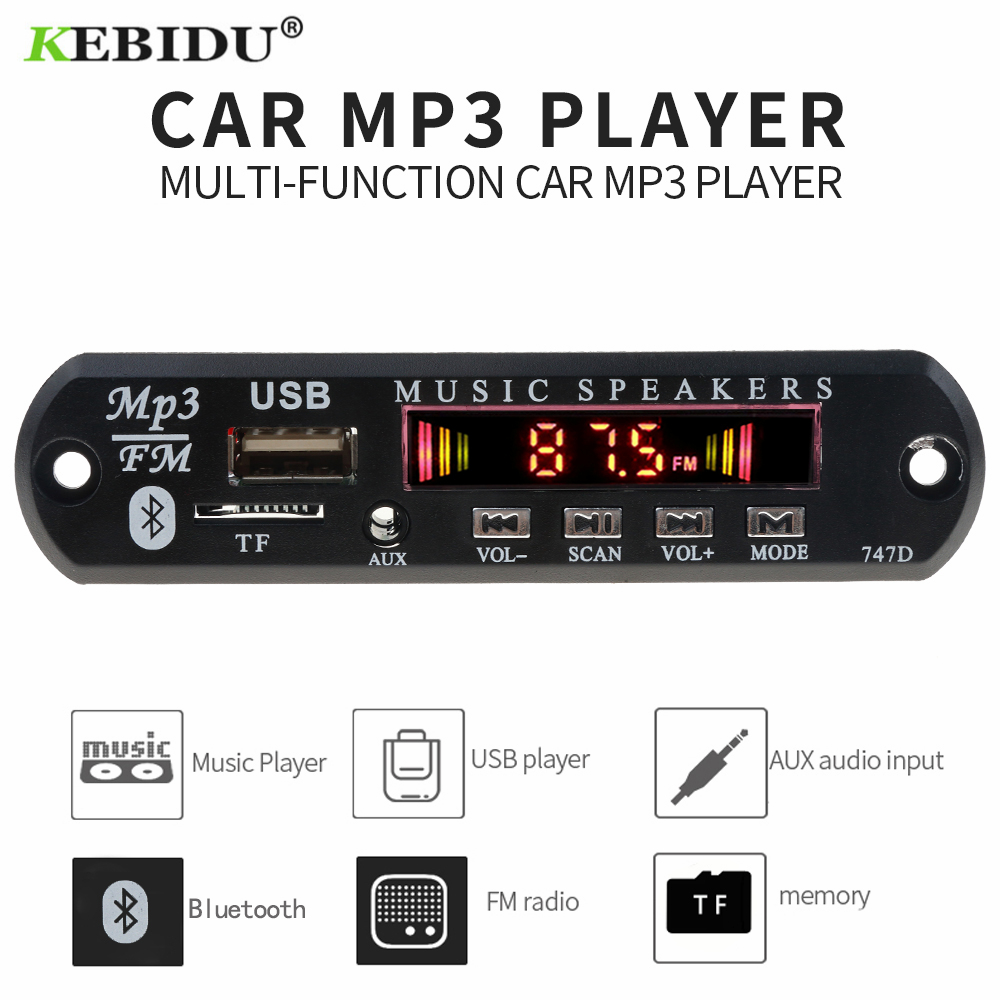 MP3 Player Decoder Board FM Radio TF USB 3.5 Mm AUX Module Bluetooth Receiver Car Kit Audio For IPhone 8 XS Xiaomi MI