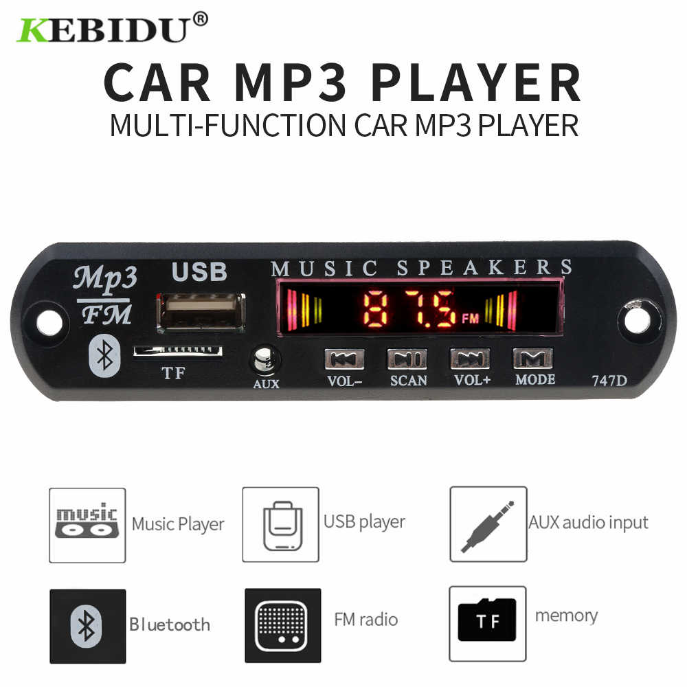 MP3 Pemain Decoder Papan FM Radio TF USB 3.5 Mm Aux Modul Bluetooth Receiver Mobil Kit Audio untuk iPhone 8 X Xiao Mi Mi