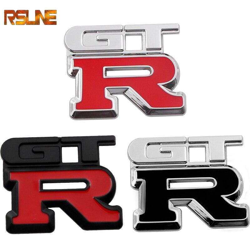 Car Styling 3D Metal GTR Logo Car Styling Emblem Badge Sticker For Nissan NISMO Racing Motorsport Decor Decal Car Accessories