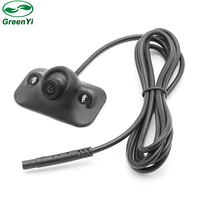 MiNi 360 Degree Rotation Normal Image HD CCD 2 LED IR Parking Assistance Camera Front Side