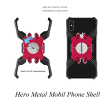 hot deal buy for iphone xr case luxury armor metal shockproof case for iphone xs max xs xr 6 6s 7 8 plus hero mechanical arm heavy duty cover