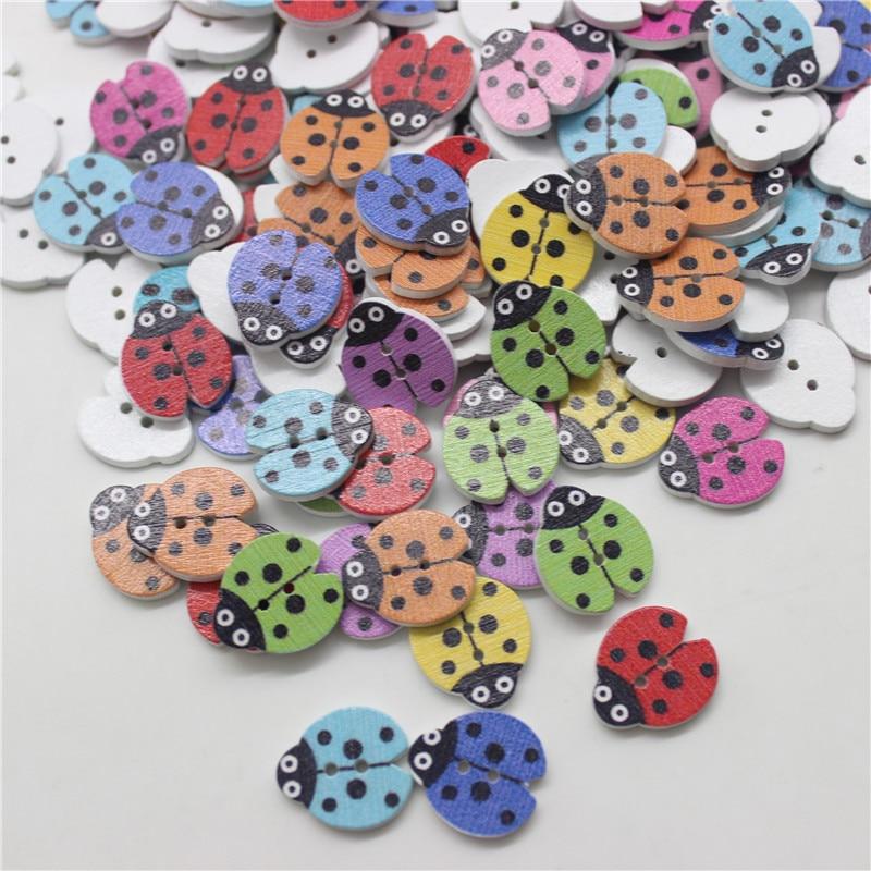 50 шт смешанные животные 2 отверстия деревянные пуговицы для скрапбукинга поделки DIY Детские аксессуары для шитья одежды пуговицы украшения