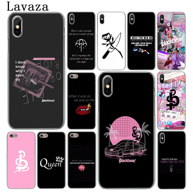 brand new 952a8 65604 US $1.47 22% OFF Lavaza Blackbear pop Album Hard Phone Cover Case for Apple  iPhone XS Max X XR 6 6S 7 8 Plus 5 5S SE 5C 4S 10 Cases-in Half-wrapped ...