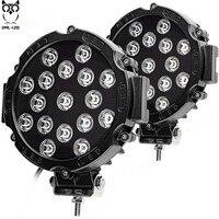 2pcs 51w LED work light spot beam Driving lights for offroad Truck Tractor ATV SUV UAZ auto 4WD 4x4 ramp 12V 24V 6000k car lamp