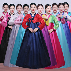 Высокое качество Новый год корейский национальный костюм женский дворец корейский платье ханбок этнических меньшинств танец сцене этап Ко...