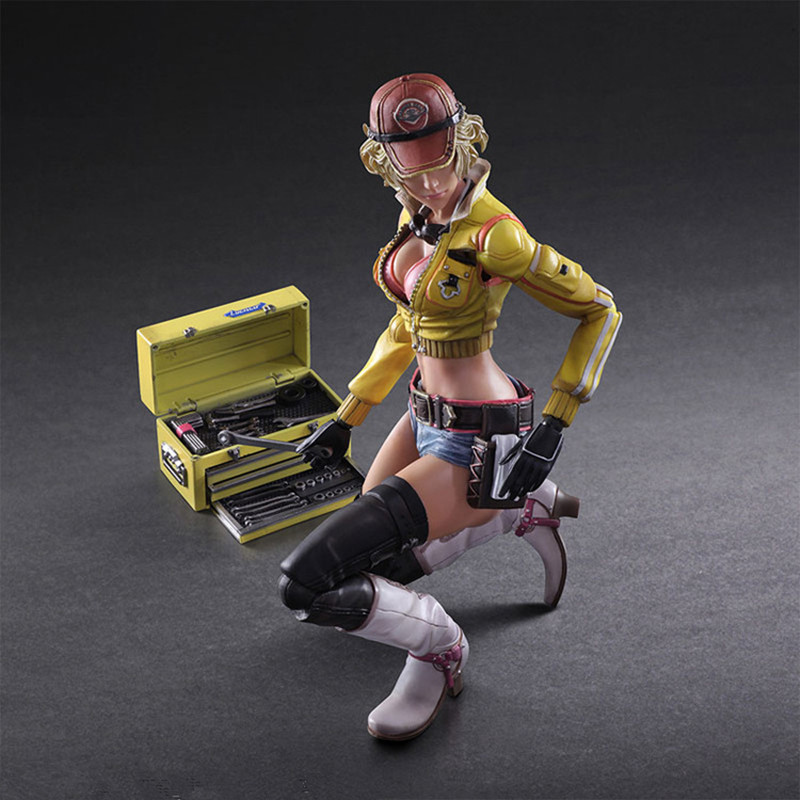 Final Fantasy Batman Variant KAI PLAY ARTS 26cm Final Fantasy XV Sexy Girl Cindy Aurum Action Figure Model Toys RETAIL BOX L1167