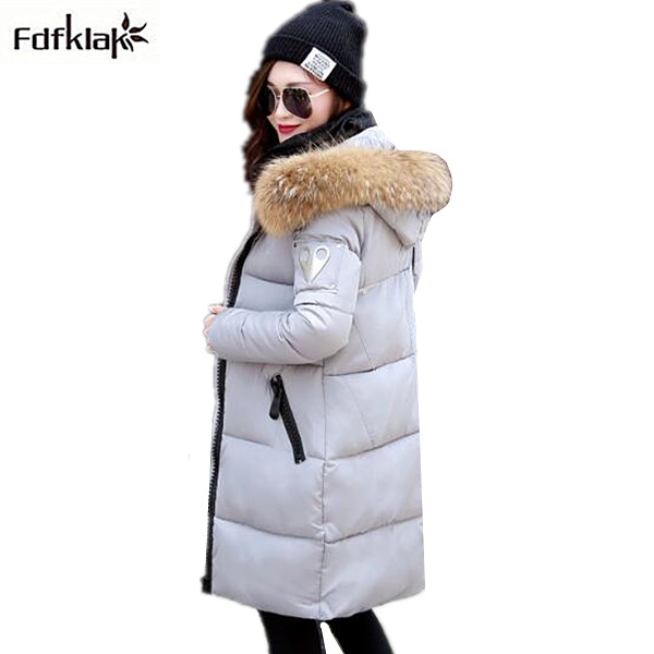 2017 New winter brand long overcoat women's cotton-padded jacket large size female down jackets & coats green black gray A331 high quality 2017 free shipping new autumn winter down jacket female cotton women work wear fashion coats black gray green page 9