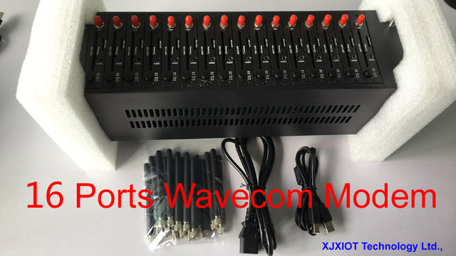 New Promotion 16 Port Wavecom Q24plus Modem Pool gsm Modem USB sms IMEI Change   STK Function  Multi sim