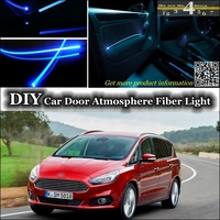 interior Ambient Light Tuning Atmosphere Fiber Optic Band Lights For Ford S Max SMax S Max Inside Door Panel illumination Refit