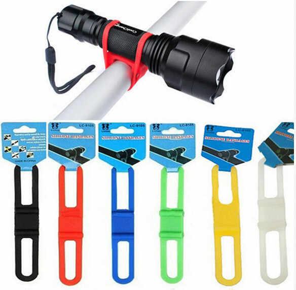 Do roweru szosowego i górskiego latarka telefon latarka zespoły bandaż elastyczny uchwyt rowerowy zaczep na lampę pasek silikonowy akcesoria rowerowe