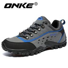 Onke Men's Sneakers Large Breathable Hiking Shoes for Man Mountain Climbing Sport Shoes Male Outdoor Trekking Sneaker 39-45