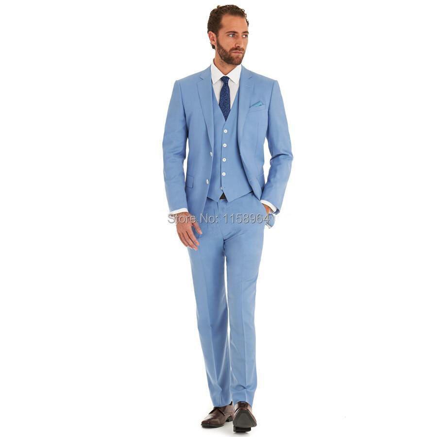 New Arrivel Romantic Light blue Lounge suit & Wedding Tuxedo men ...