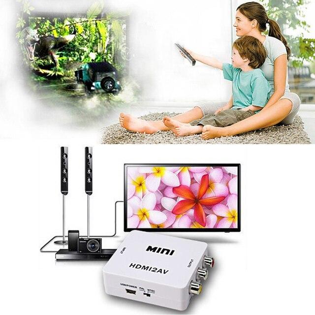 2015 Горячие Мини Композитный 1080 P HDMI Femal к RCA Женский AV Видео CVBS Кабель Конвертер для HDTV DVD