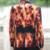 2015 hombres de fuego de impresión blazer jacket outwear ropa para hombre para bailarín del cantante rendimiento vestido de novia moda bar discoteca