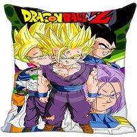 New Custom Pillow Case anime dragon ball Z &q Pillowcases zipper (40X40cm One Side) Pillow Cover 810&I13