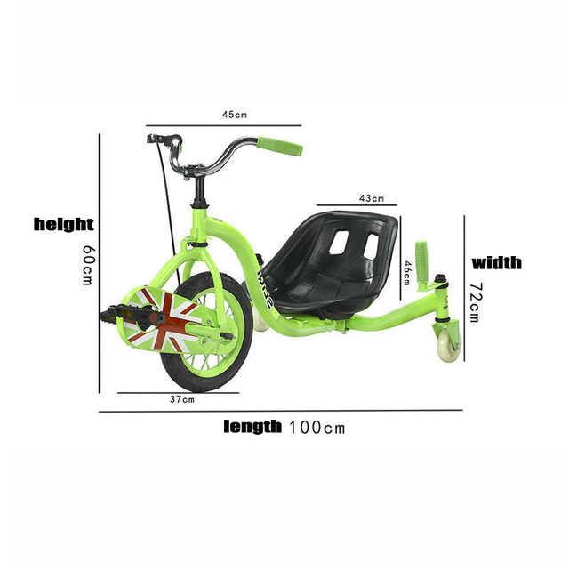 Chain Pedal Drift Car, Teens Drift Trike with 15inch Big Wheel, Steel Frame  Tricycle Drift Car With Hand Brake