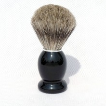 Pure Badger Hair Shaving Brush Shave Beard Brushes with Black Wood Handle for Mens