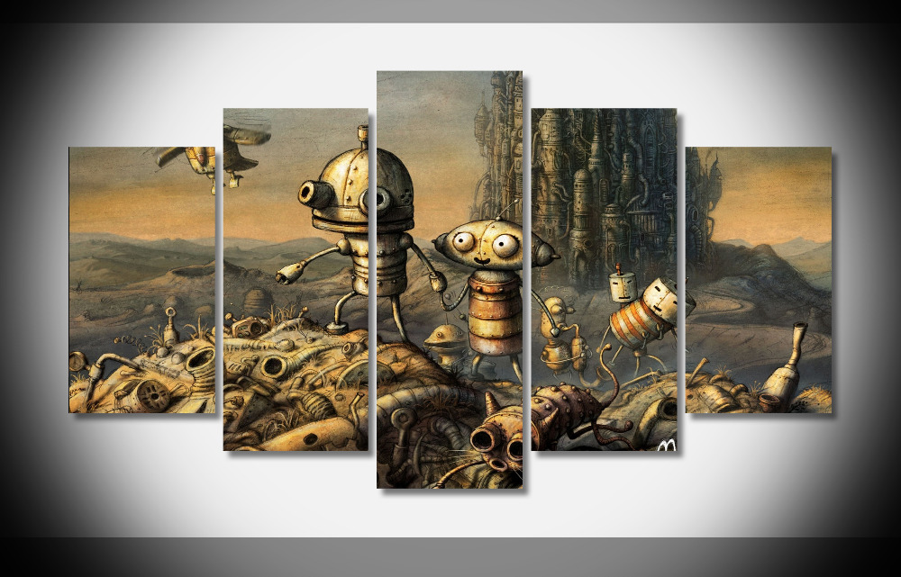 online game poster gallery wrap art tableau peinture sur toile 5 panels no frames canvas paintings