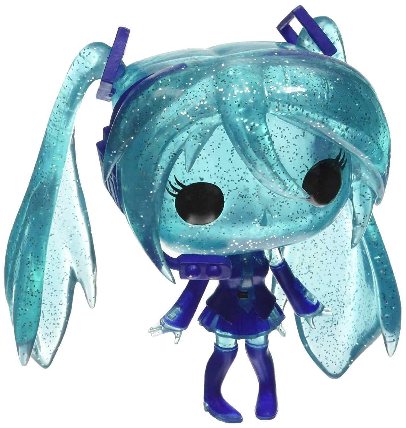 Oficial exclusivo Cristal Vinil Funko pop Hatsune Miku Action Figure Collectible Modelo Toy com Caixa Original