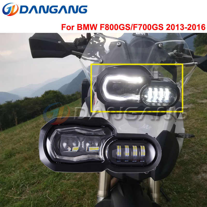 Projecteur LED phare phare Angle oeil feux diurnes pour BMW F700GS F700 F800GS Adv F800 GSA phare E9 Mark