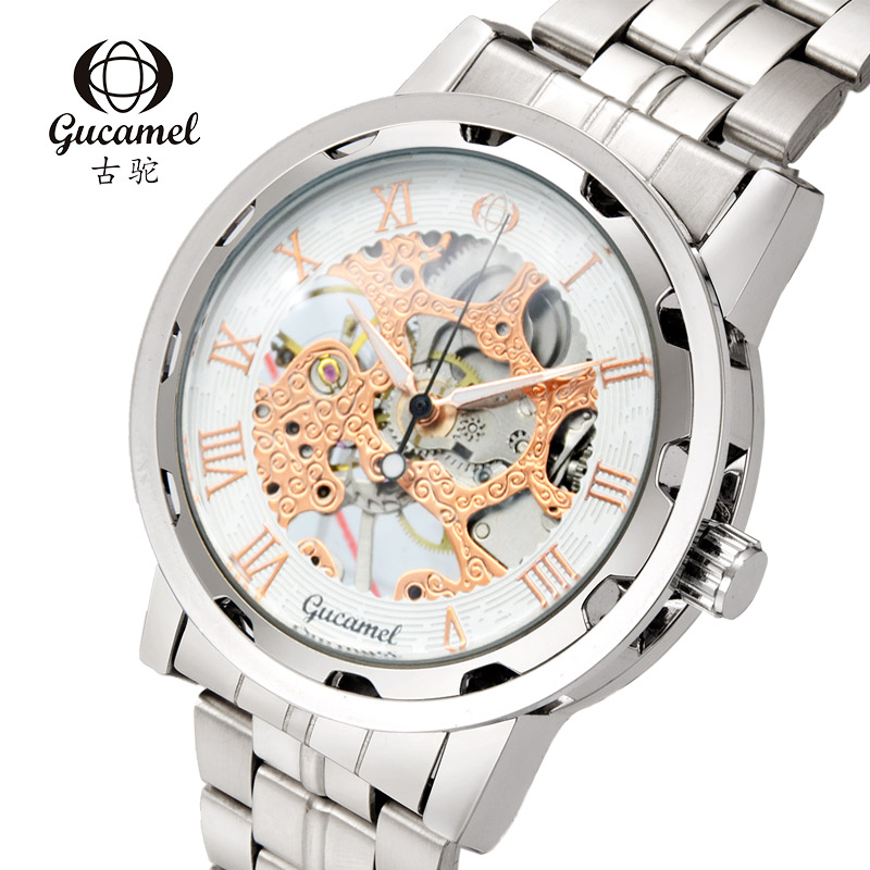 Spring Travel Clear Hollow Design Business Mechanical Men Wristwatches Luxury Accurate Outdoor Fashion Charms Watches