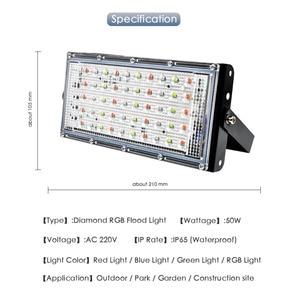 Image 3 - Floodlight 10W 50W LED Flood Light Lighting Outdoor Street Lamp Wall Reflector Waterproof IP65 Spotlight AC 220V 240V