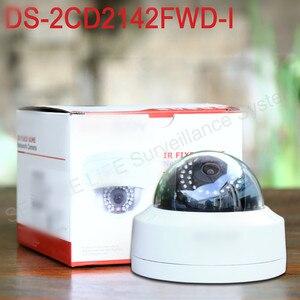 Image 2 - Englisch version DS 2CD2142FWD I 4MP mini dome netzwerk cctv kamera, P2P 1080p IP kamera POE 120dB WDR