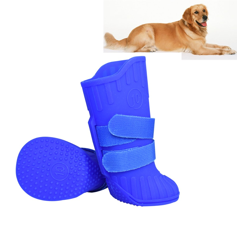 N36 Natural Rubber Large Big Dog Rain Snow Shoes Waterproof Pet dog Puppy boots booties non-slip pitbull golden retrievers shoes