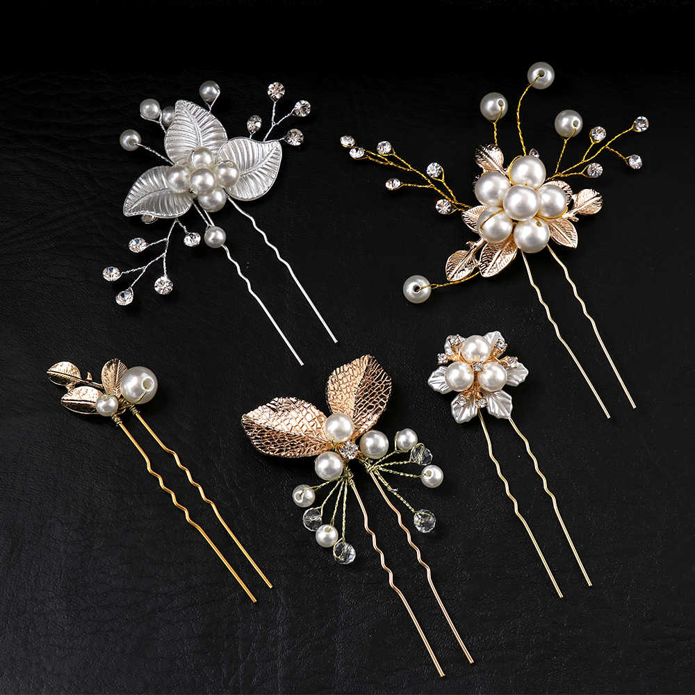 HOOH New Wedding Hair Combs For Bride Crystal Rhinestones Pearls Women Hairpins Bridal Headpiece Hair Jewelry Accessories