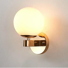 New Nordic Bedside Wall Lamp Led Creative Bedroom Light Modern Simple Living Room Corridor Hallway e27 led