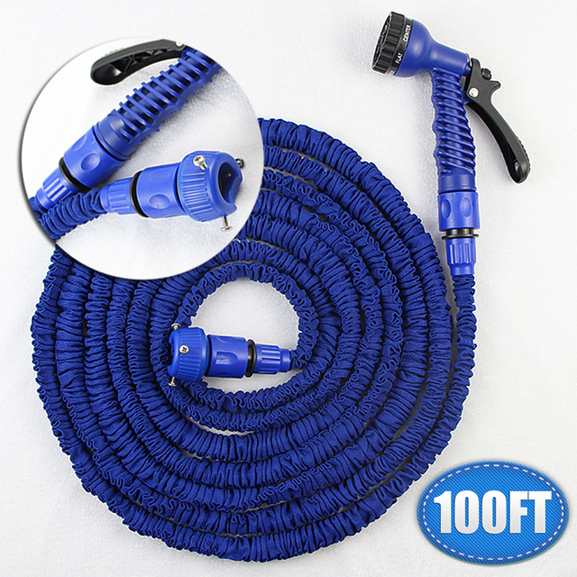 100ft Shrinking Expandable Garden Hose Pipe For Watering 34 Inch
